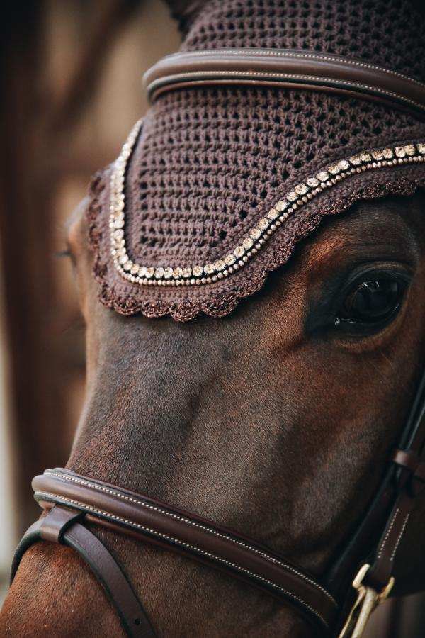 Kentucky Horsewear Fly Veil pearl and stone