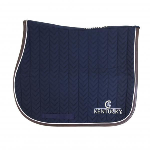 Kentucky Horsewear Leather Fishbone Showjumping Saddlepad