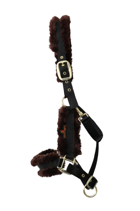 Kentucky horsewear sheepskin headcollar brown from Equissimo