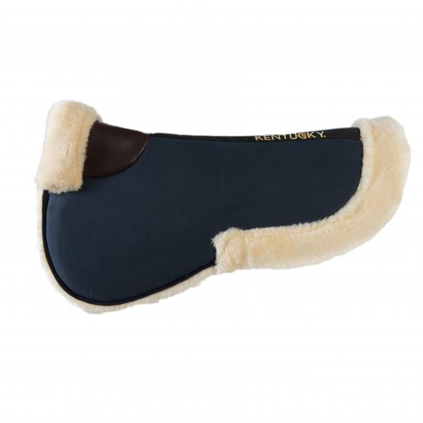 Kentucky Horsewear Sheepskin Half Pad Absorb navy
