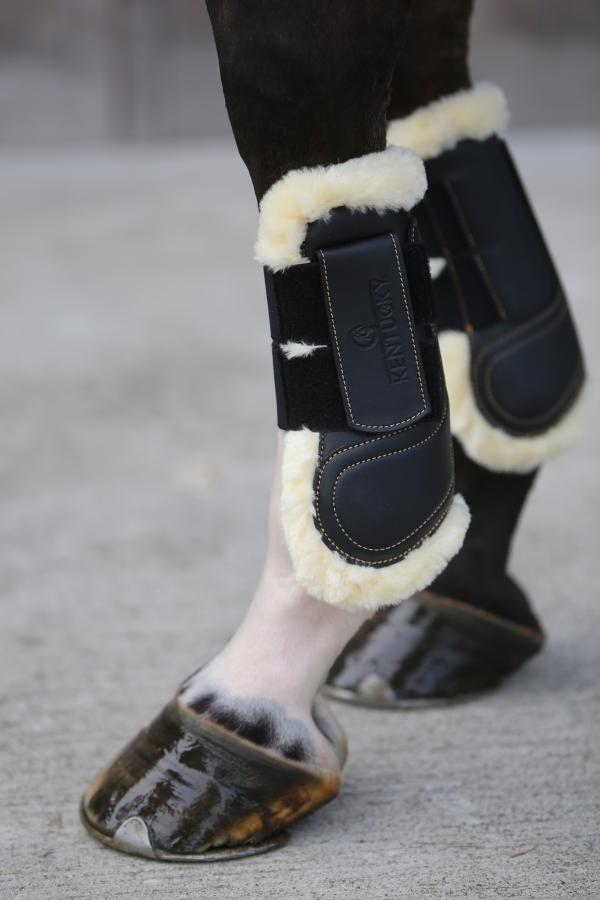 Kentucky Horsewear Leather Tendon boots Velcro Hook and Eye