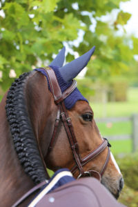 Kentucky Horsewear Wellington Fly Veil Blue Equissimo