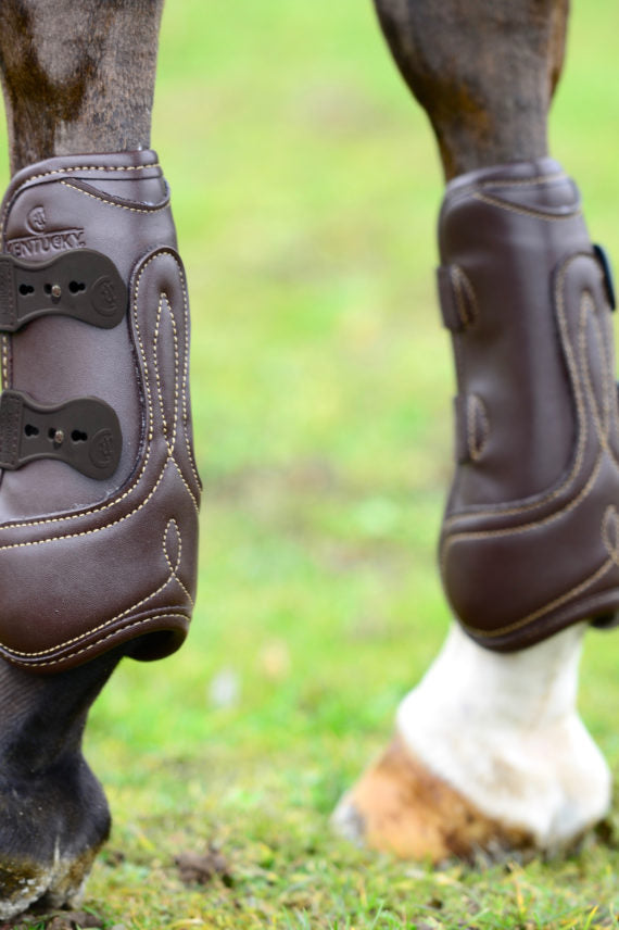 Kentucky Horsewear Leather Tendon Boot Brown