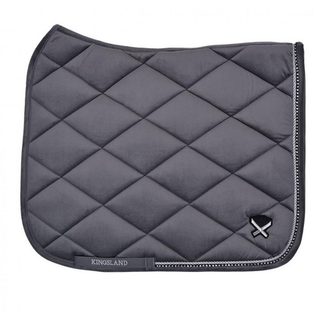 Kingsland Waivera Dressage Saddlepad Grey Velvet