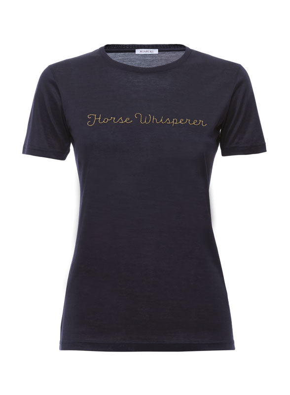 Miasuki Iwrite T shirt midnight blue
