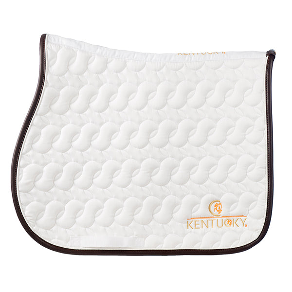 Kentucky horsewear saddle pad white. Equissimo