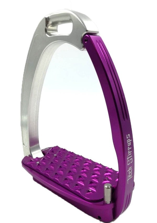 Tech Stirrups Venice Silver and Purple