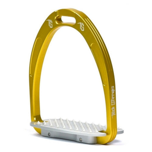 Tech stirrups athena jump stirrup gold from Equissimo