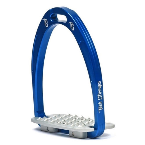 Tech stirrups iris cross country in blue from Equissimo