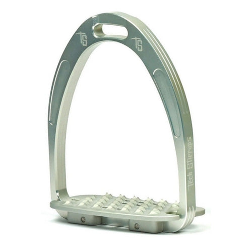 Tech stirrups iris cross country in silver from Equissimo