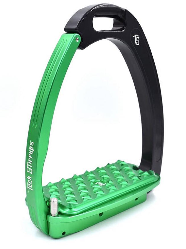 Tech Stirrups Venice Sloped Black and Green
