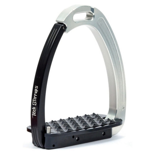 Tech stirrups venice black and silver safety stirrup from Equissimo