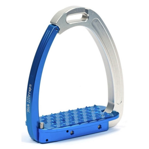 Tech stirrups venice blue and silver safety stirrup from Equissimo