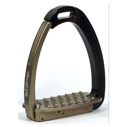 Tech stirrups venice brown and black safety stirrup from Equissimo
