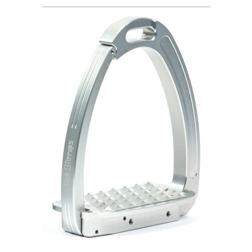 Tech stirrups venice silver and silver safety stirrup from Equissimo