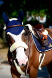 Kentucky Horsewear fly veil blue Equissimo