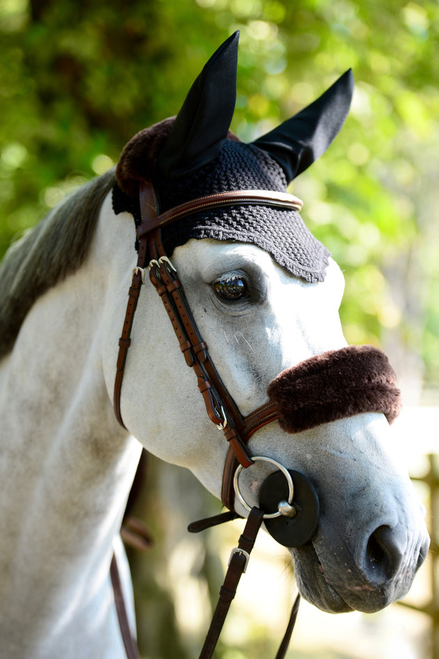 Kentucky Horsewear fly veil navy Equissimo