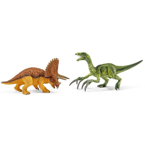 Schleich Small Triceratops And Therizinosaurus 42217 Schleich Retiring 2019 Schleich Retired 2019