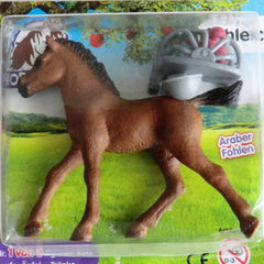 "Arabian Foal with Hay Rack, drinking cup and red apples  Schleich 82955  Introduced: 2016; Retired: 2016   Special Edition Schleich Bayala Magazine Editions - In Summer 2016,new small series of 3 more ""Pferdehof"" magazins with Special Edition foals began."