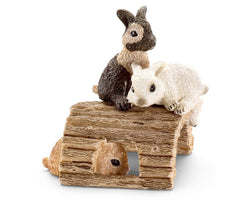 Schleich Baby Rabbits playing #13748