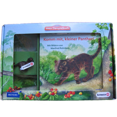 Black Panther Kitten  Schleich 82815   Introduced: 2012; Retired: 2012  In 2012 Schleich provided animals for a cooperative children's book series called Mein Tierspielbuch produced with the publishing company Meyer.