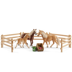 Limited Edition Haflinger family in the meadow  Schleich 72131