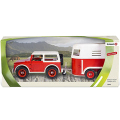 Special Edition Red Jeep and Trailer   Schleich 72042  Introduced: 2013; Retired: 2013  Released by ToysRus