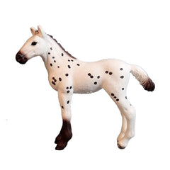 "Knabstrup Foal  Schleich 82976   Introduced: 2017; Retired: 2017   Special Edition Schleich Bayala Magazine Editions - In Summer 2016,new small series of 3 more ""Pferdehof"" magazins with Special Edition foals began."