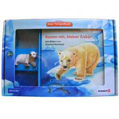 Polar Bear Cub  Schleich 82817   Introduced: 2012; Retired: 2012  In 2012 Schleich provided animals for a cooperative children's book series called Mein Tierspielbuch produced with the publishing company Meyer.