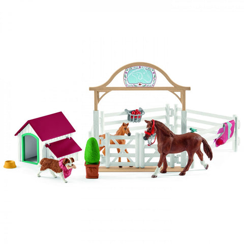 Schleich Hannah's Guest Horse and dog Ruby 42458 New Release 2019 Schleich 2019