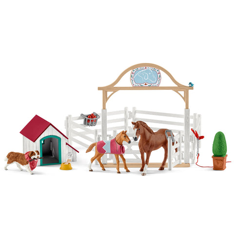 Schleich Hannah's Guest Horse and dog Ruby 42458 Schleich New Release Schleich 2019