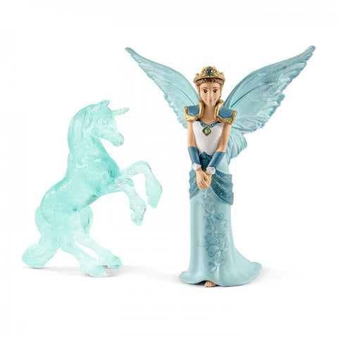 Schleich Eyela with Unicorn Ice sculpture