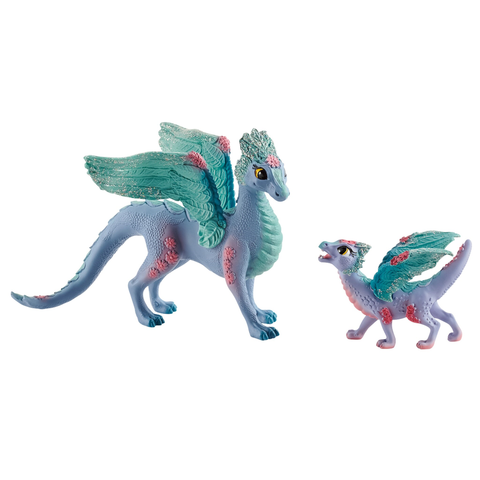 Schleich Flower Dragon and young #70592