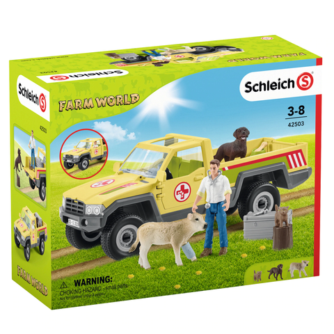 Schleich Vet visiting the farm #42503