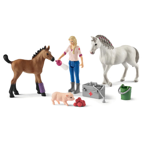 Schleich Vet Visit with Mare and Foal 42486