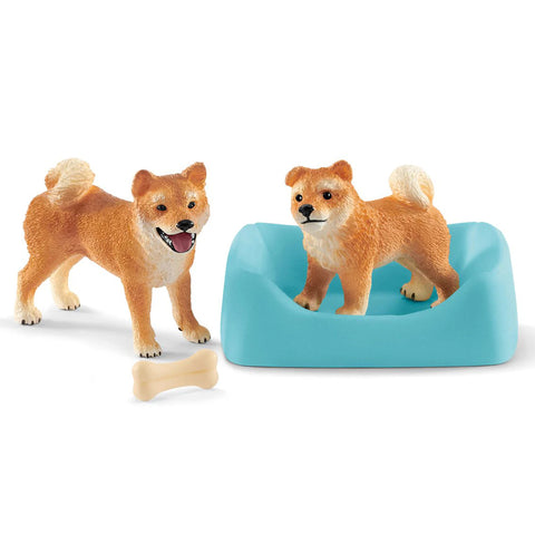 Shiba Inu Mother and Puppy  Schleich 42479  Release Date January 2019 New Release 2019 Schleich 2019