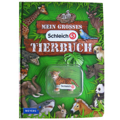 Tiger Cub  Schleich 82825   Introduced: 2012; Retired: 2012  In 2012 Schleich provided animals for a cooperative children's book series called Mein Tierspielbuch produced with the publishing company Meyer.