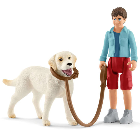 Schleich Walking with Labrador Retriever  Schleich 42478  Release Date January 2019 Schleich 2019