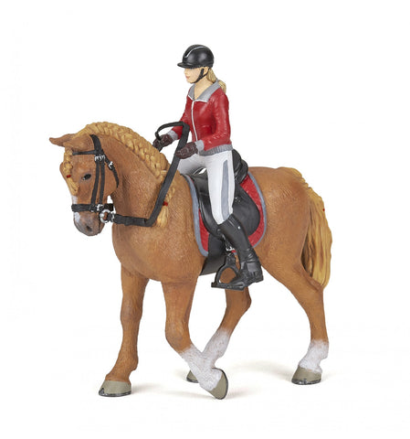 Papo Walking horse with riding girl 51564