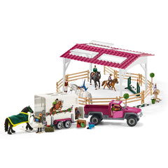 Special Edition Riding school with pick-up and horse box  Schleich 42403