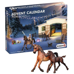 exclusive Arabian Mare and Arabian Foal  Schleich 97020  Introduced: 2014; Retired: 2014  From the Horse Advent Calendar 2014