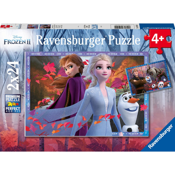 Ravensburger Frozen 2 Frosty Adventures 2x24pc-RB05010-9-Animal Kingdoms Toy Store