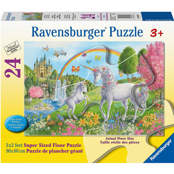 Ravensburger Prancing Unicorns 24pc Super size-RB03043-9-Animal Kingdoms Toy Store