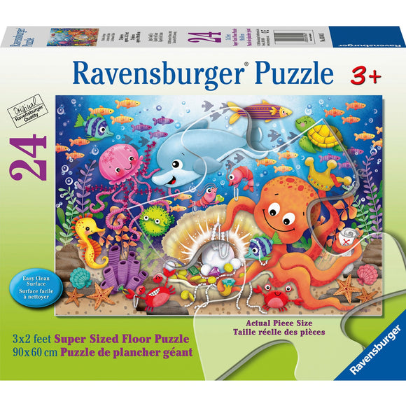 Ravensburger Fishie's Fortune 24pc Super size-RB03041-5-Animal Kingdoms Toy Store