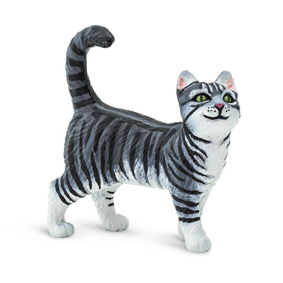 Safari Ltd Gray Tabby Cat-SAF100128-Animal Kingdoms Toy Store