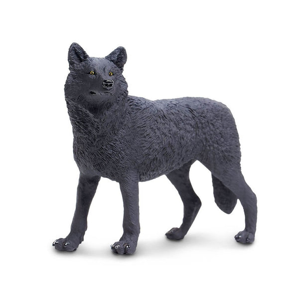 Safari Ltd Black Wolf - AnimalKingdoms.co.nz