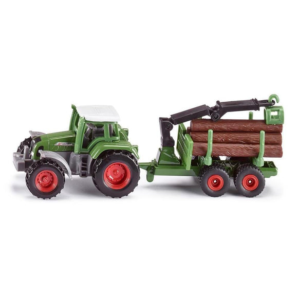 Siku Fendt Favorit 926 with Forestry Trailer-SKU1645-Animal Kingdoms Toy Store