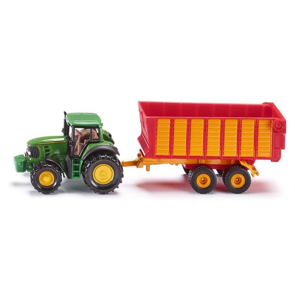 Siku John Deere 7530 with Silage Trailer-SKU1650-Animal Kingdoms Toy Store
