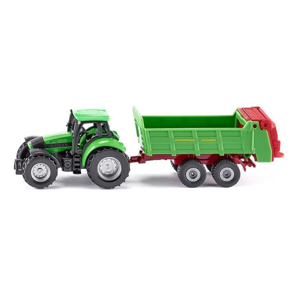 Siku Deutz-Fahr Agrotron 265 with Spreader-SKU1673-Animal Kingdoms Toy Store