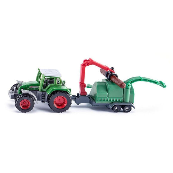 Siku Fendt with Wood Chipper-SKU1675-Animal Kingdoms Toy Store